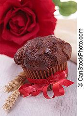 muffin, chocolat