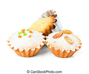 muffin, cupcake, isolated