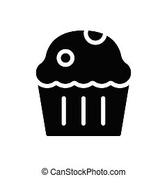 muffin glyph flat icon