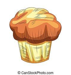 muffin icon, colorful design