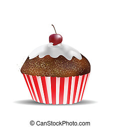 Muffin Isolated on White