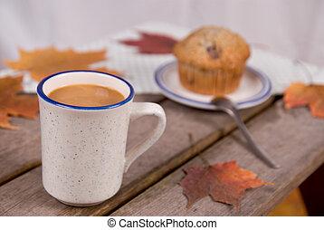 muffin, kávéscsésze