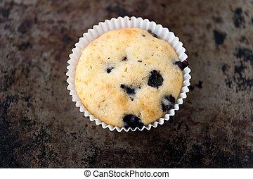 muffin, myrtille