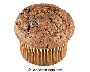 Muffin on the white background
