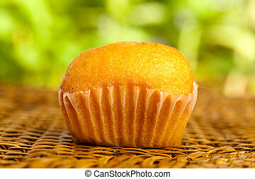 muffin on wicker