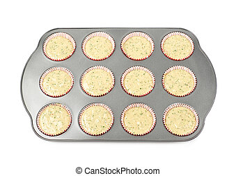 Muffin pan tray isolated