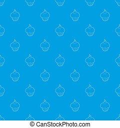 Muffin pattern seamless blue