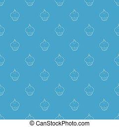 Muffin pattern vector seamless blue