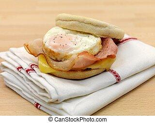 muffin, petit déjeuner, anglaise