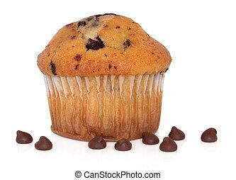 muffin, puce, chocolat