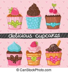 Muffin set. Cupcake set.