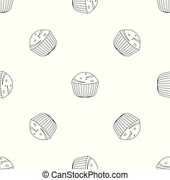 muffin, vector, seamless, model