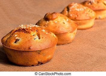 muffin, viande