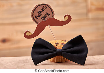 Muffin with mustache.