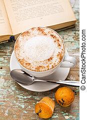 muffins, café, cappuccino