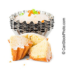 muffins, cupcakes, isolated