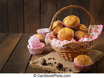 muffins, fruit, muscade