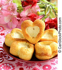 muffins in the shape of a heart