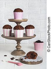 muffins, leben, noch, kakau