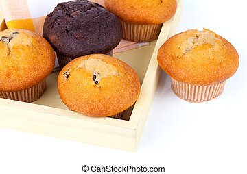 muffins, on white background
