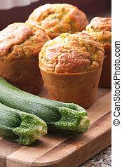 muffins, zucchini