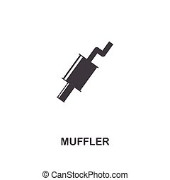 Muffler creative icon. Simple element illustration. Muffler concept symbol design from car parts collection. Can be used for web, mobile, web design, apps, software, print.