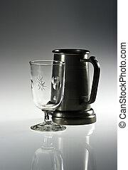 Mug and glass