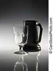 Mug and glass