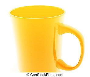 Mug illustration - Mug cup illustration glossy metal style...