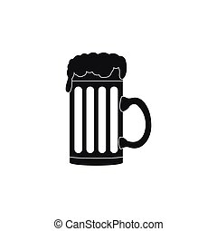 Mug of beer icon, simple style