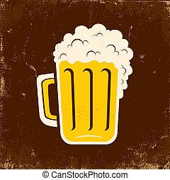 Mug of beer - Illustration mug of beer