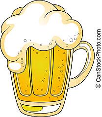 Mug of beer. Vector illustration over white. EPS 8, AI, JPEG