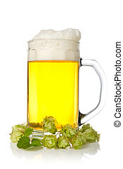 mug of beer with hop