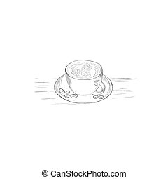 mug of coffee in sketch style
