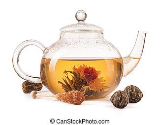 Mug of tea isolated on white background