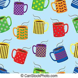 mug seamless pattern