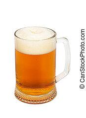 mug with a fresh beer