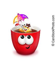 Mug with Hot Chocolate and Floaty