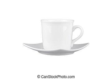 mug with saucer - Mug for tea or coffee with saucer isolated...