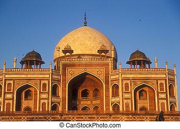 mughal, delhi, architektura