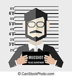 Mugshot Of Businessman. - Mugshot Of Businessman Vector...