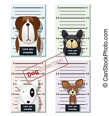 Mugshot of cute dogs holding a banner 1 - Mugshot of cute...