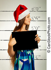 Mugshot of Santa helper