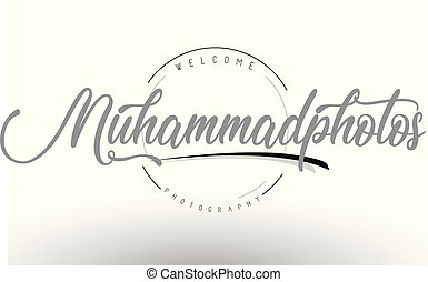 Muhammad Personal Photography Logo Design with Photographer...