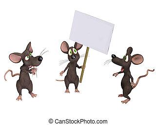 muis, vasthouden, meldingsbord