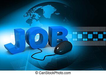 muis, woord, samenhangend, computer, 3d, banen
