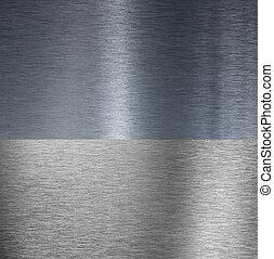 muito, afiado, escovado, alumínio, textura