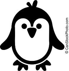 muito, cute, pingüim