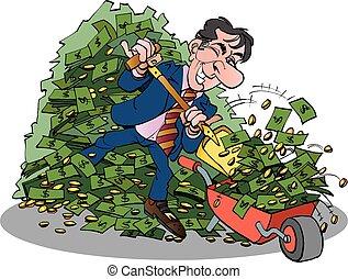 muito, gerente dinheiro, fácil