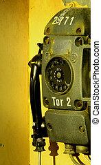 muito, indústria, telefone velho